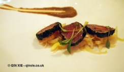 Seared tuna, Nino Franco at Babbo, Mayfair
