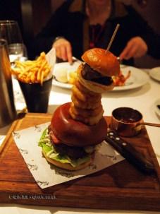 Burger stack, London Malmaison Brasserie