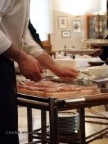 Cooked fish on Himalayan salt slab, Ristorante Beccaceci, Abruzzo