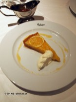 Lemon honey tart, London Malmaison Brasserie