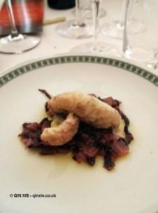 Monkfish with chicory, Ristorante Beccaceci, Abruzzo