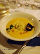 Navelli chickpea soup with codfish, Locanda Manthone, Abruzzo