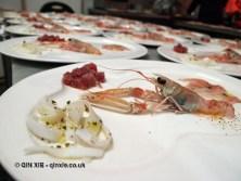 Seafood crudité close up, Ristorante Beccaceci, Abruzzo