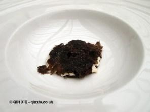 Veal gel, dried porcini, almonds and black truffle, Ristorante Reale, Abruzzo