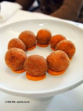 Ventricina sausage arancini, Ristorante Al Metrò, Abruzzo