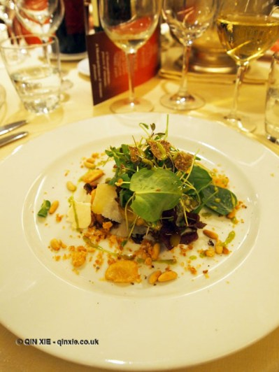 Winter salad with herbs and goats cheese, Villa Maria, Abruzzo