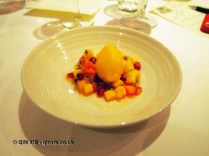 Sorbet with fruit, Sonny's Kitchen, Barnes