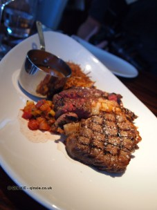 Beef steak with ratatouille, Catch by Simonis, The Hague