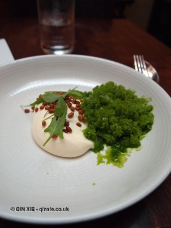 White chocolate, egg yolk, sorrel, De Vitrine, Ghent