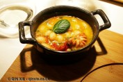 White bean, chorizo, tomato and octopus cassoulet, Riberach, Belesta