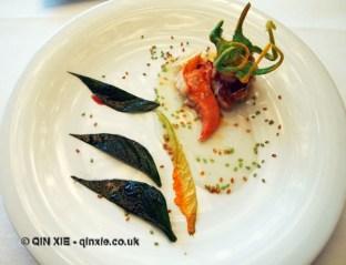 """Lobster """"Sea and Garden"""", Arzak, San Sebastian"""