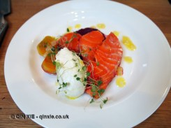 Seared salmon and beetroot, Monica Galetti Experience, Cactus Kitchen
