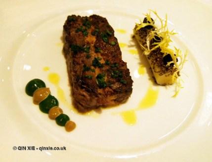 Foie gras terrine with leek at Hibiscus