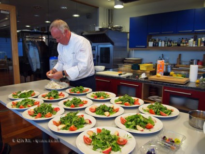 Plating up, Finnish cooking with Tomi Laurila, Helsinki
