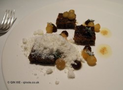 Bread pudding, apples, Alyn Williams at The Westbury