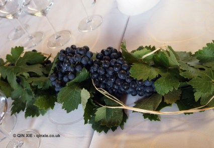 Grapes on the table, Beronia, Rioja
