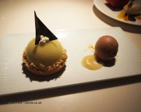 Pear and almond pastry, Chinese New Year at Yauatcha, London