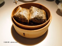 Sticky rice in lotus leaf, Chinese New Year at Yauatcha, London