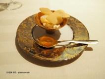 Honey amber jelly and sambuca petals, Enoteca Pinchiorri, Florence