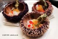 Rock fish, clams, sea urchin, tobiko, yuyo, Nikkei Sunday at Lima, London