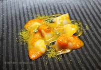 Scallops, chia seeds, tumbo passion, Nikkei Sunday at Lima, London