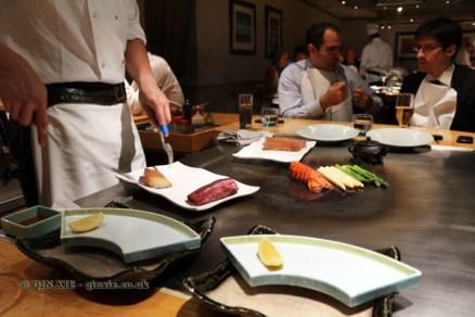 Food on teppan, The Matsuri, St James