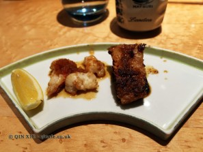 Lobster tail and black cod ginger, The Matsuri, St James