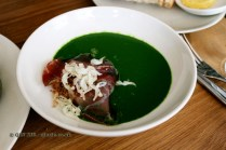 Nettle Soup, Pheasant Egg & Cured Pig's Cheek, Lyle's, London