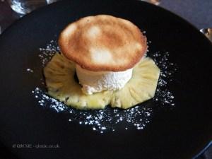 Pineapple ice cream and fresh pineapples, Côté Bastide, Bergerac