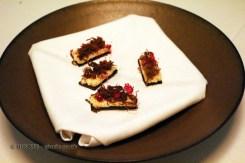 Reindeer blood bread, dried reindeer, lingonberry, roe, Gastrologik, Stockholm