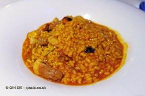 Arroz Meloso de Pato con Boletus (wet rice with duck and boletus), Submarino, Valencia