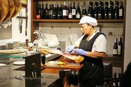 Slicing jamon, Casa Montaña, Valencia