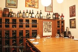 Tasting room, Casa Montaña, Valencia