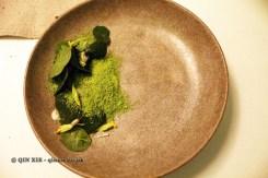 Veal tartare, cress and cress cream granita, oyster sauce, Gastrologik, Stockholm