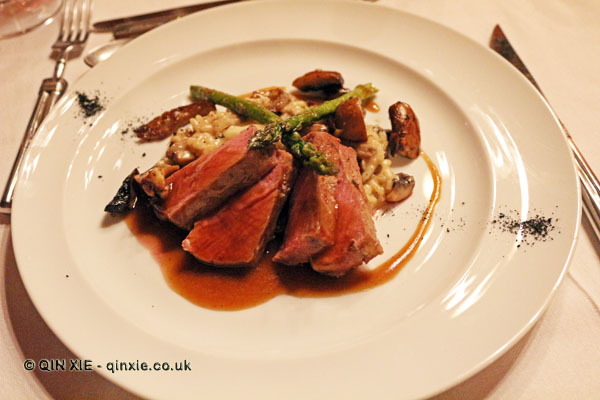 Beef steak and rice, Quinta do Portal, Douro Valley
