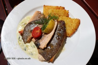 Pan-fried fish at Gutsschänke Meersburg, Food in Baden-Württemberg