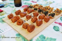 Sausages and mixed canapes, Quinta de Sao José, Douro Valley