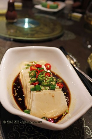 Soft tofu with chilli, Vegan Restaurant, Chengdu