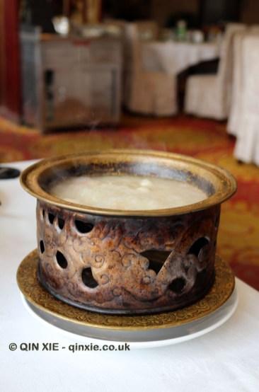 Hot pot, Dumplings feast at De Fa Chang, Xian, China
