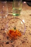 Erizos en Veda (Sea urchin salad - made from apricot and apple), Restaurante 99, Santiago