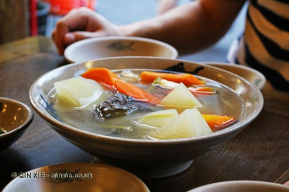 Autumn vegetable soup, Ren Ming Shi Tang (People's Public Restaurant), Chengdu, China