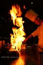 Chef cooking, 57 Xiang, Chengdu, China
