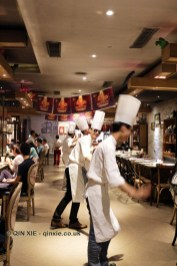 Chefs dancing, 57 Xiang, Chengdu, China