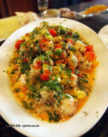Seafood rice at APEDA basmati rice conference