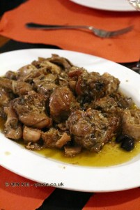 Rabbit alla Ligure with Taggiasca olives and pine nuts, Ristorante Il Genovese, Liguria