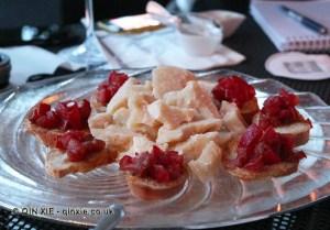Parma ham and parmesan cheese, Bar Deck Zeus, Vis a Vis, Sestri Levante