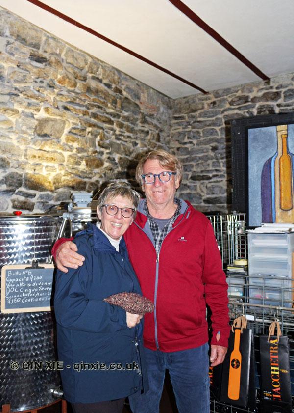 Roberto Bonfiglio and Alessandra de Cugis at Terra di Bargòn, Cinque Terre