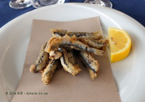 Fried anchovies, Ristorante Portobello, Sestri Levante