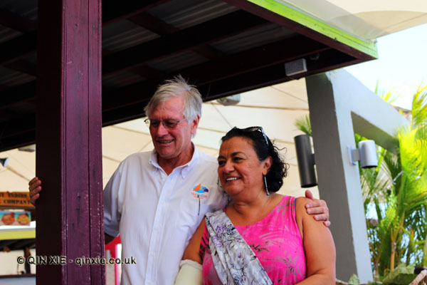 Russ at Magdalena Fielden at Grenada Chocolate Festival