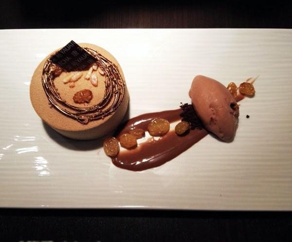 Chocolate luxe gateau at Yauatcha City, London